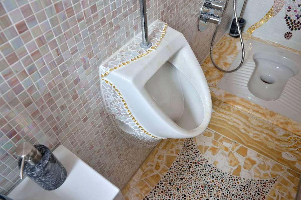 Außergewöhnliche Wohnideen: Urinal-Verkleidung