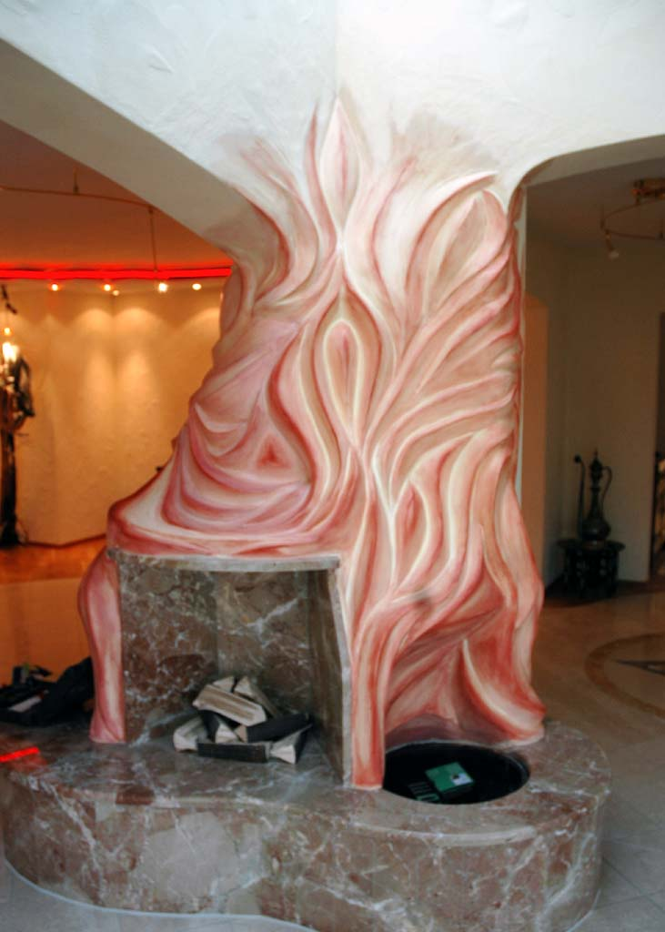 Außergewöhnliche Wohnideen: Kamin in organischen Formen (2)