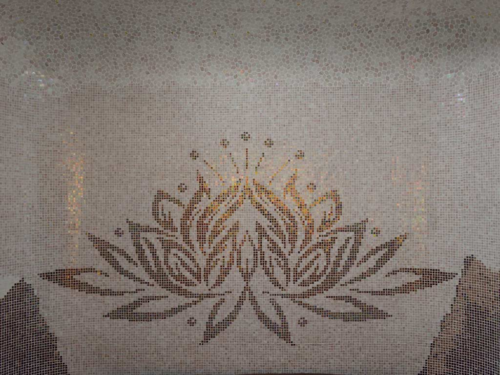 Mosaikkunst: Die Lotusblume - Reinheit des Herzens und des Geistes