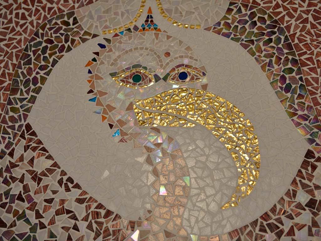 """Mosaikkunst: """"Bernhard"""" - der bunte Geier"""