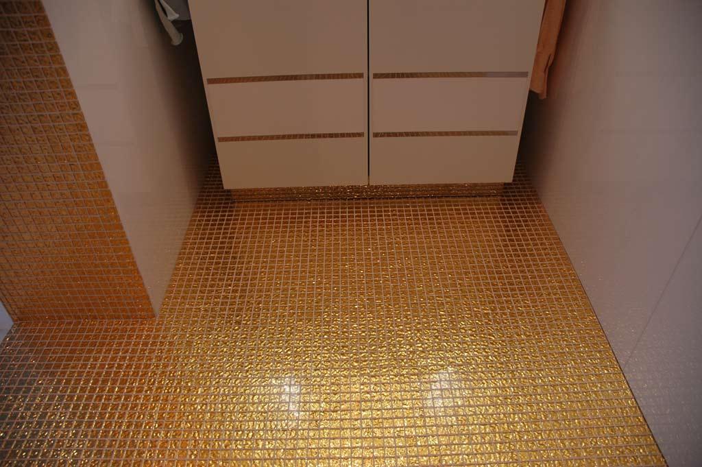 Mosaikkunst: 24k Goldmosaik