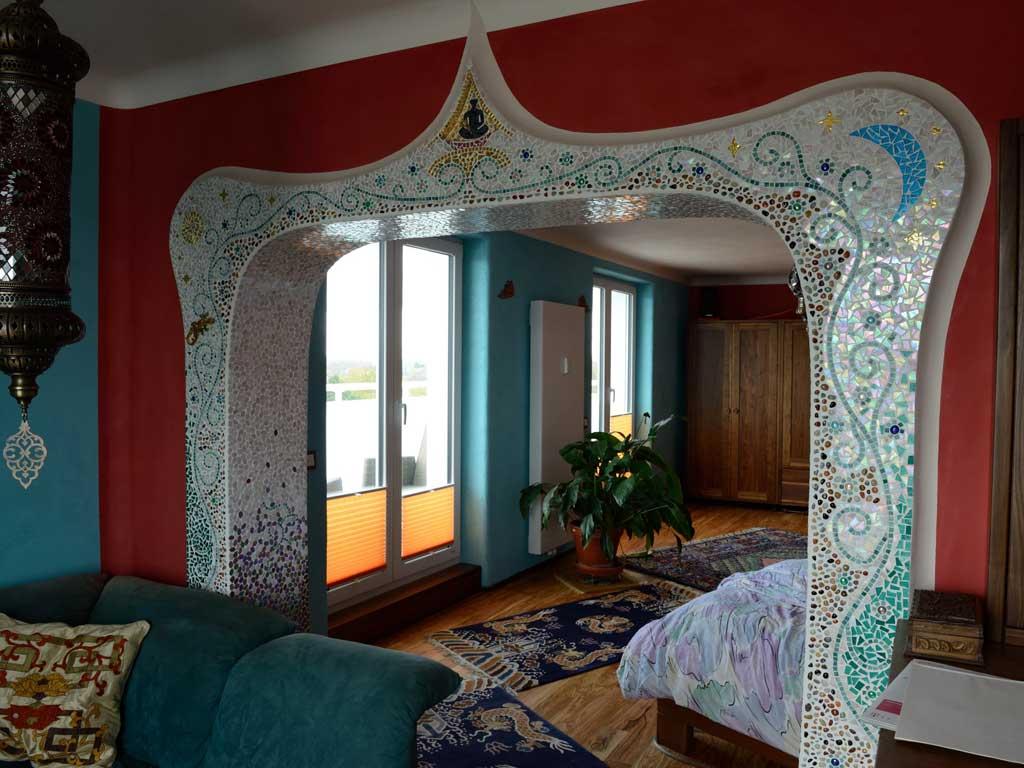 Wohnraumgestaltung: Verbindungsbereich zweier Räume (Rückseite)