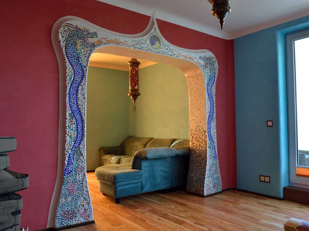 Wohnraumgestaltung: Zweidimensionale Ornamente (Verbindung zweier Räume)